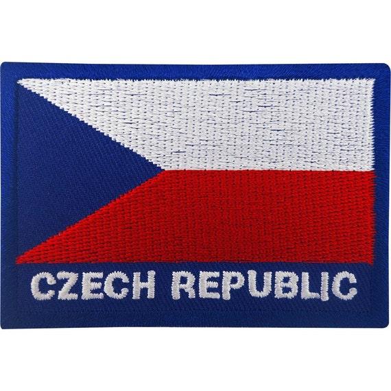 Parche para coser o planchar de la bandera de Rep/ública Checa