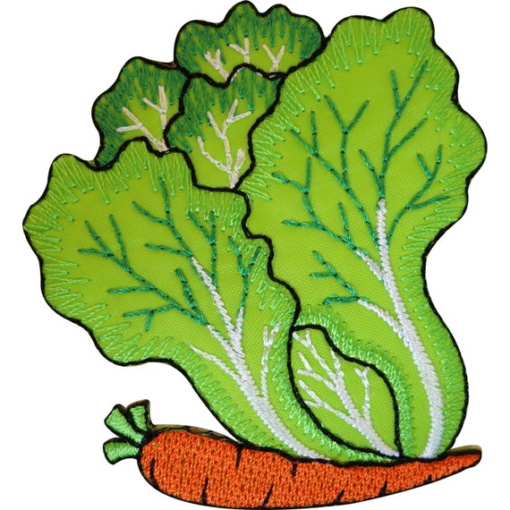 Lettuce Face Iron On Embroidery Applique Patch Sew Iron Badge