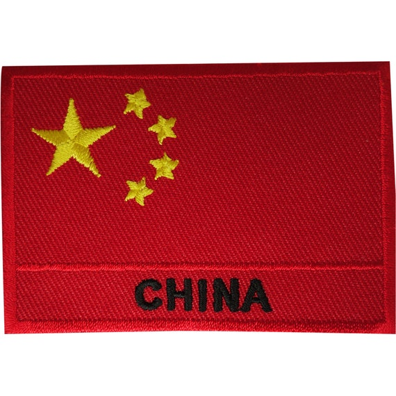 China CCP Chinese Flag Embroidered Sew Iron On Badge Patch #456