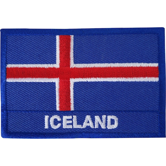 Iceland Flag Patch Embroidered Applique Icelandic National Iron On Sew On Emblem