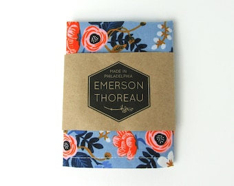 Blue Floral Pocket Square || Navy Pink White Cotton Handkerchief Powder Blue Hanky Summer Wedding Gift For Him Mens Accessory Matching Tie