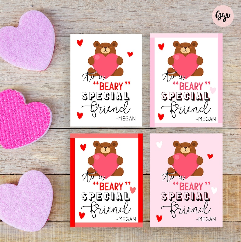 graphic about Valentine's Day Tags Printable named VALENTINES Working day TAGS, printable valentine tags, valentine stickers, customized present tags, beary exclusive mate favors, higher education valentines