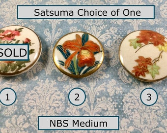 Your Choice of ONE Satsuma NBS Medium Button Orchid, Autumn Maple Leaves, Poppies