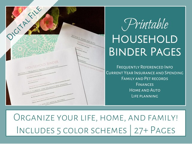 Household Binder Printables 2.0 Open Layout Improved | Etsy
