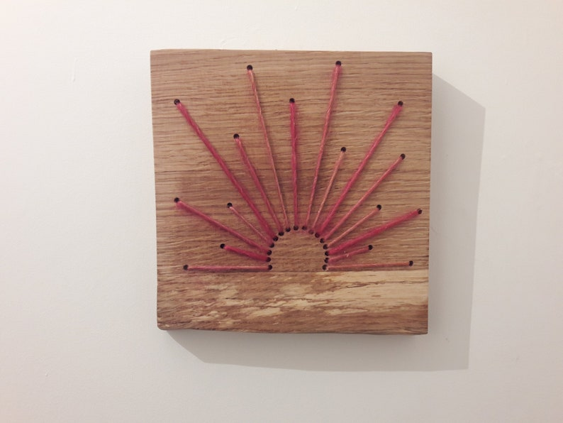 Wooden String Sun Wall Art image 0