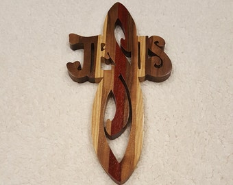 Custom Handcrafted Wooden Jesus Cross