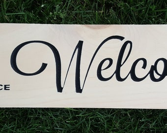 Air Force Wood Welcome Sign