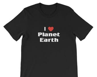 I Love Planet Earth Shirt Space Astronomy Planets Tee