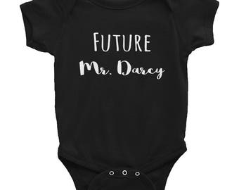Future Mr. Darcy Baby Boy Jane Austen Pride & Prejudice Infant Bodysuit
