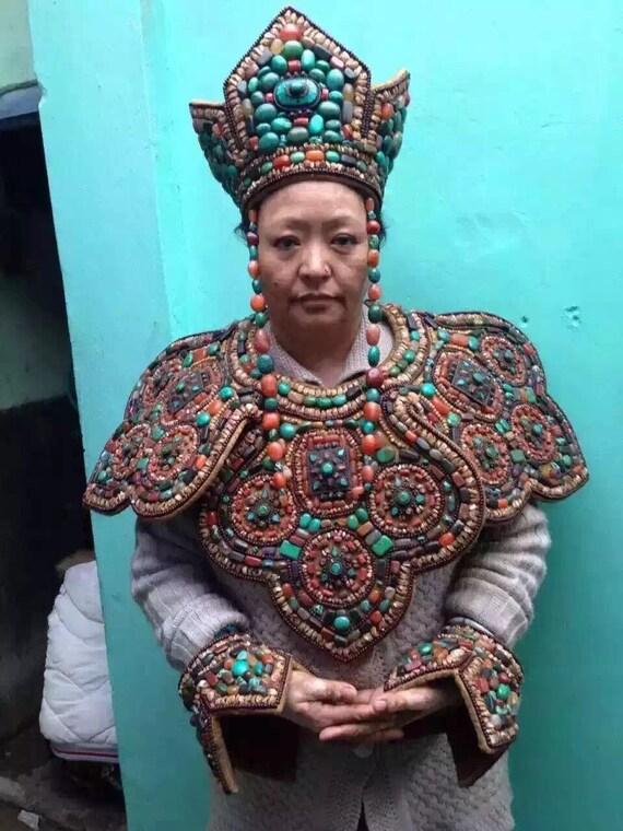 Old Antique Tibetan Wedding Traditional Cultural D