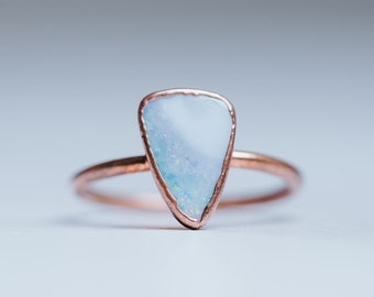 9f778015e Opal Alternative Engagement Ring | Opal Ring | Raw Gem Engagement Ring |  Non Diamond Engagement Ring | Boho Wedding Ring | Engagement Ring