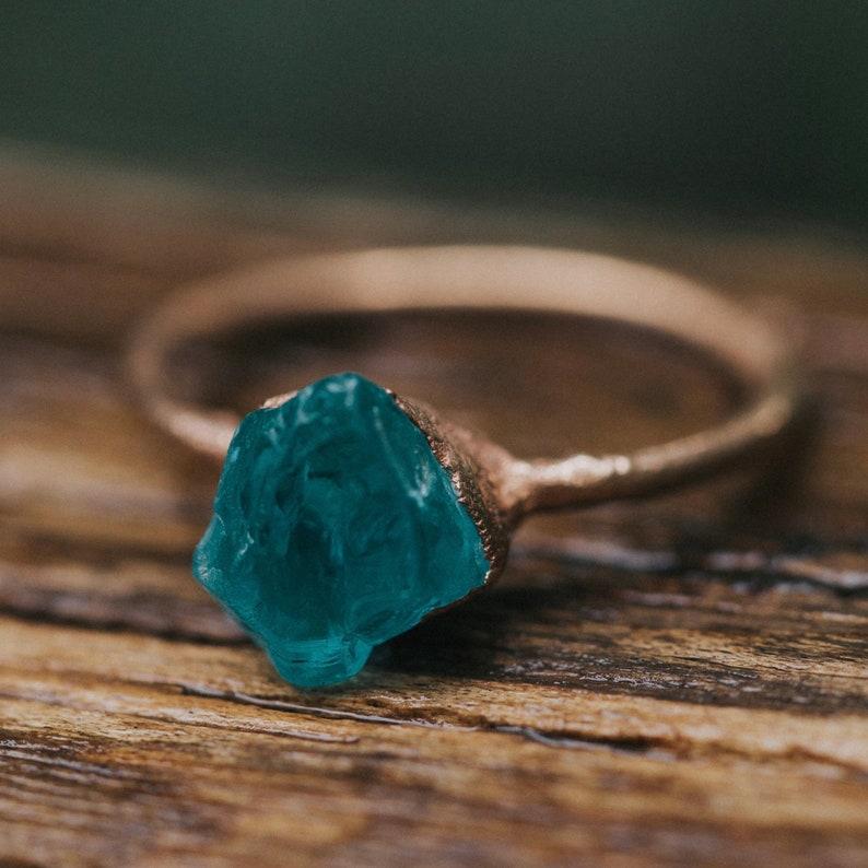 Alternative Engagement Ring  Raw Stone Engagement Ring  image 0