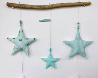 Light blue star mobile