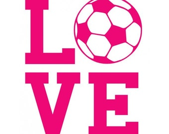 Love Soccer Decal