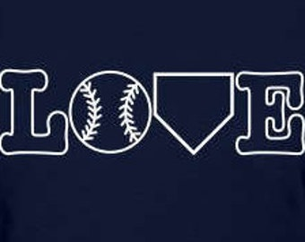 LOVE Baseball/Softball Decal