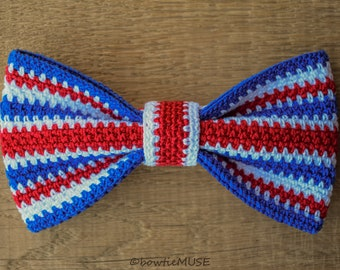"""Crocheted bow tie """"UK flag"""" , collection """"Flags"""""""