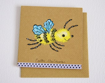 Busy Busy Buzzz - Handpainted Greetings Card