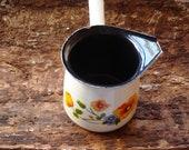 Vintage Beige coffee(tea)pot with a handle Farm House Kitchen Farmhouse Decor Unused