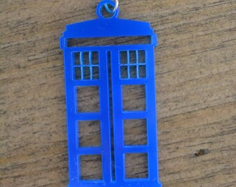 Tardis laser cut necklace