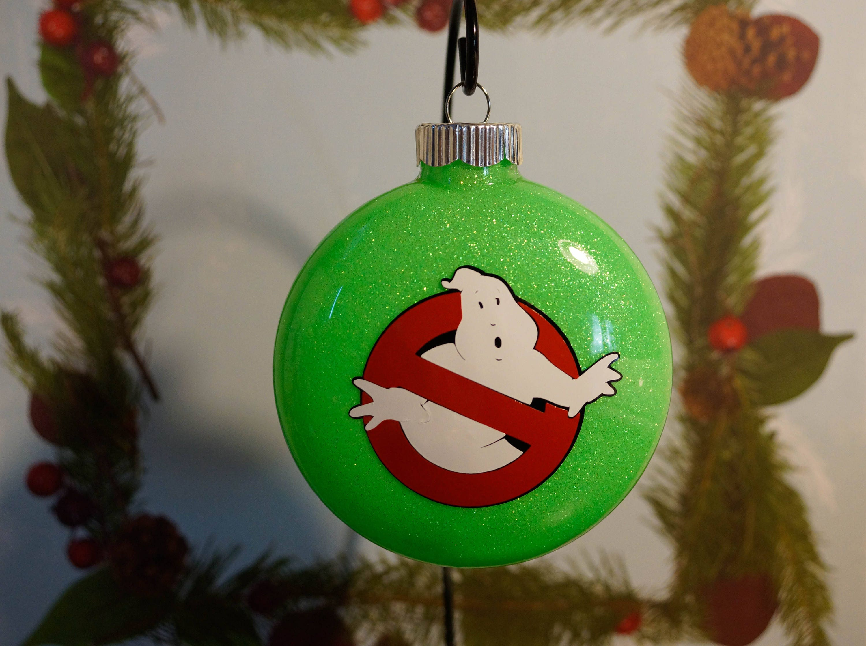 Ghostbusters Inspired Christmas Ornament