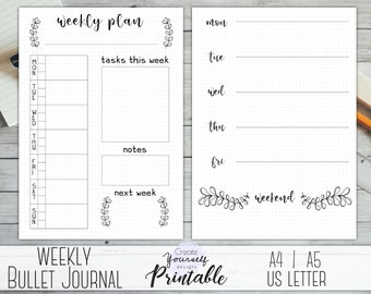 photo regarding Bullet Journal Pages Printable named Printable regular monthly bullet magazine bullet magazine increase Etsy