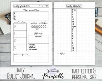 bullet journal printable monthly planner bullet journal etsy