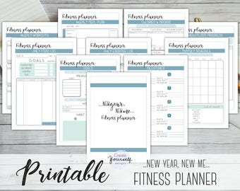 printable fitness planner fitness goal planner fitness journal workout tracker calorie tracker meal planner weight loss planner