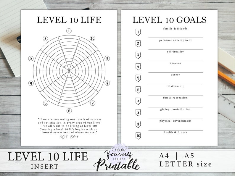 photo regarding Level 10 Life Printable named Bullet magazine printable - position 10 lifestyle planner, issue 10 everyday living planner increase, planner refill, intent planner, printable incorporate A4 A5 Letter