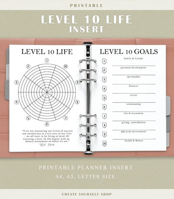 It's just a picture of Level 10 Life Printable throughout bullet journal