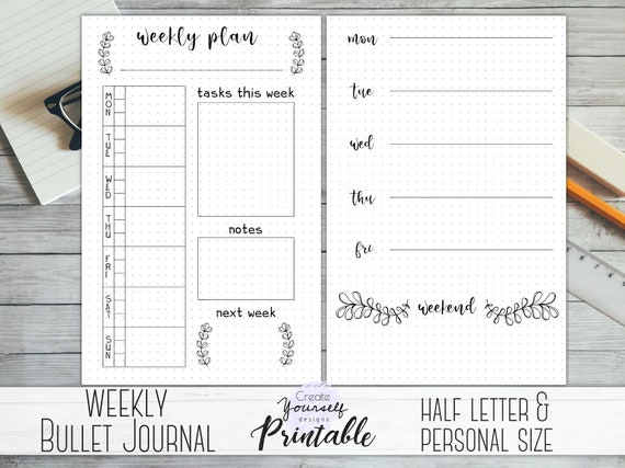 This is a photo of Bullet Journal Printable pertaining to water tracker