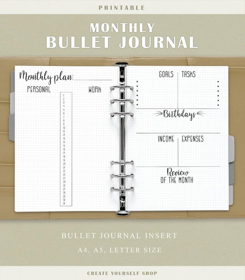 Journal mensuel imprimable de balle  planificateur de grille image 0