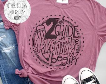 2nd Grade Teacher Shirt Etsy