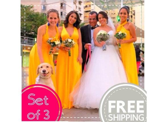 086da12255 FREE Shipping! SET OF 3 Bridesmaid dress Wedding dress Infinity Dress  Multiway Dress Convertible Dress Twist Wrap Dress Prom Evening
