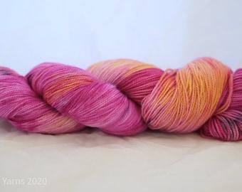 OOAK Hand Dyed Merino Sock Yarn