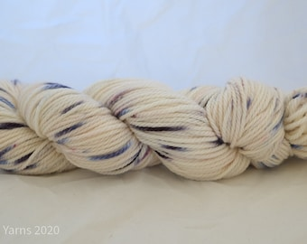Blueberry Crush Hand Dyed Bluefaced Leicester (BFL) Aran Yarn