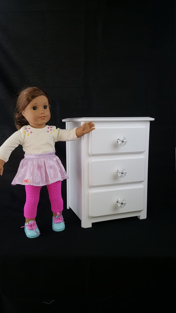 American Girl Doll Furniture All White Clothes Storage Etsy