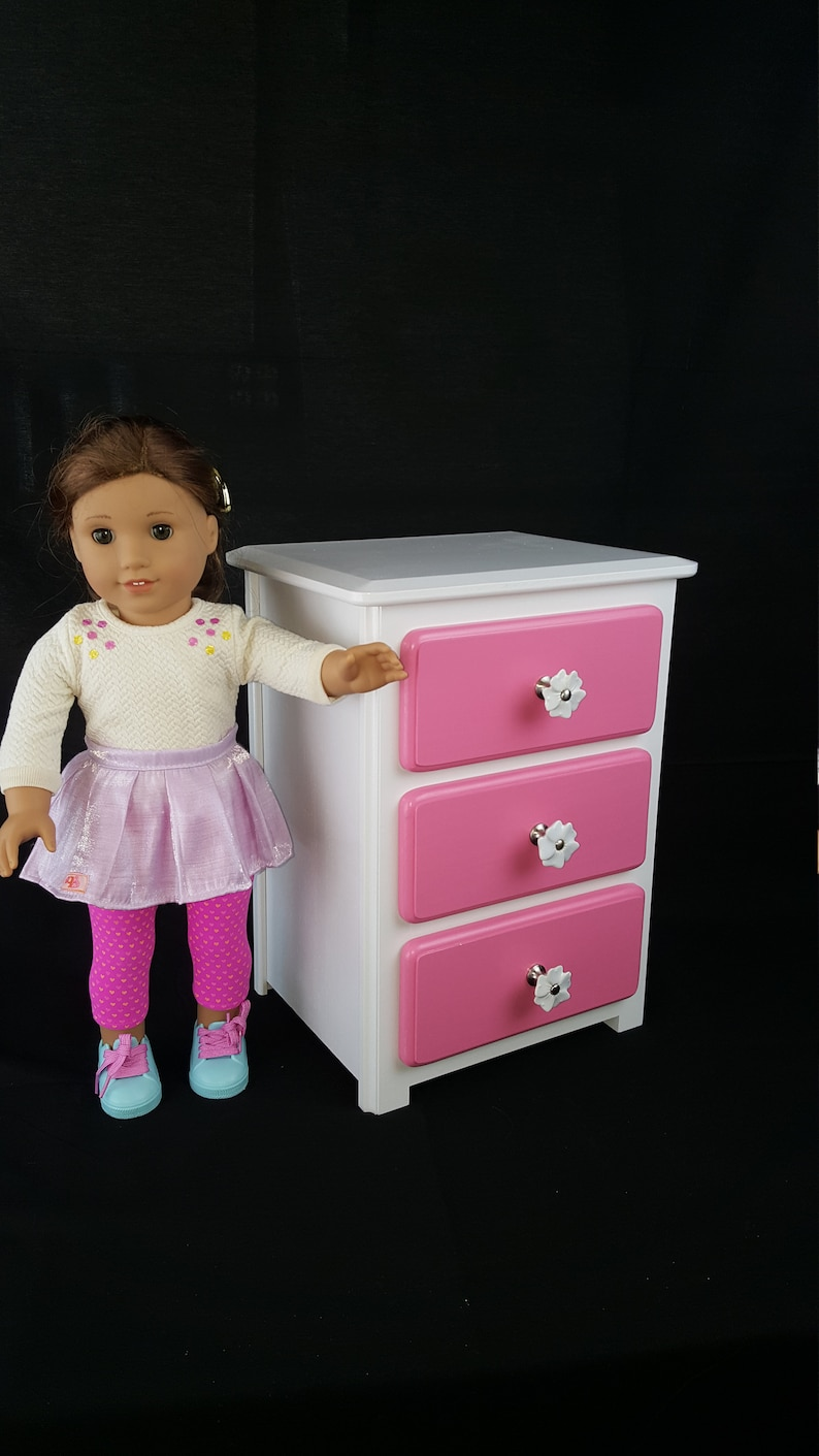 American Girl Doll Furniture White Clothes Storage Dresser Etsy