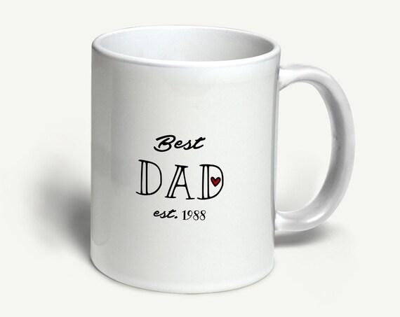 """Tasse """"Best Dad"""" (personalisiert)   in 6 Farben erhältlich"""