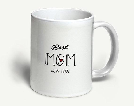"""Tasse """"Best Mom"""" (personalisiert)   in 6 Farben erhältlich"""