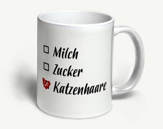 """Tasse """"Katzenhaare""""   in 6 Farben erhältlich"""