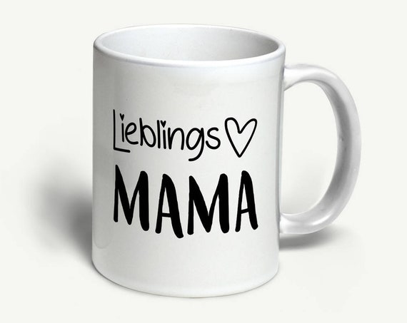 """Tasse """"Lieblingsmama""""   in 6 Farben erhältlich"""