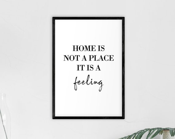 "Poster | Print | Kunstdruck ""Home is a Feeling"" 