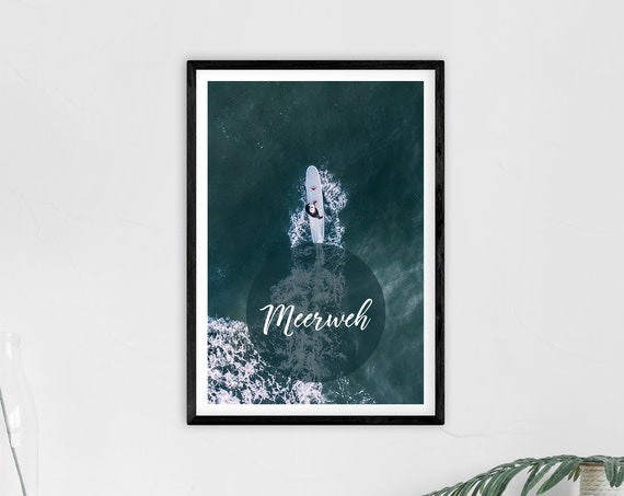 "Poster | Print | Kunstdruck ""Meerweh"" | DIN A2"