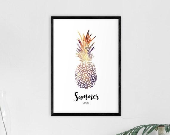 "Poster | Print | Kunstdruck ""Summer Love"" | DIN A4"