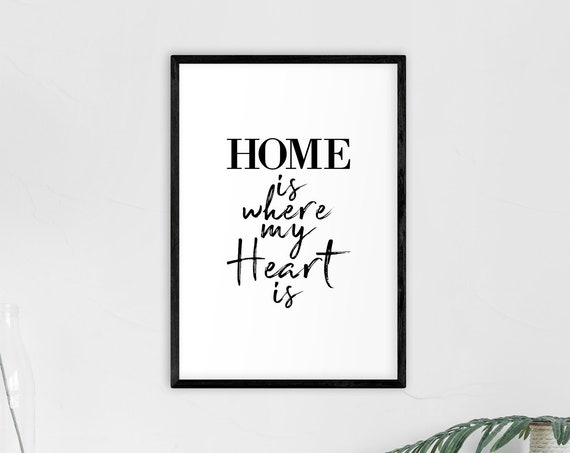 "Poster | Print | Kunstdruck ""Home is where my Heart is"" 