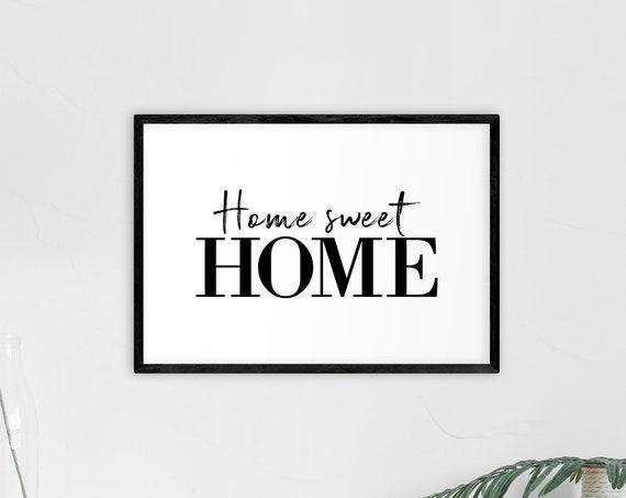"Poster | Print | Kunstdruck ""Home sweet home"" | DIN A4"