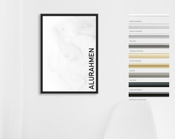 "Bilderrahmen | Alurahmen ""Classic"" | für Fotografien, FineArt, Kunstdrucke, Poster, Urkunden"