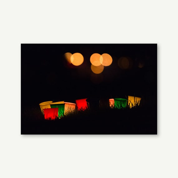 "Wandbild ""Colorful Lights""   Fotografie auf Leinwand, Acrylglas, Alu-Dibond"