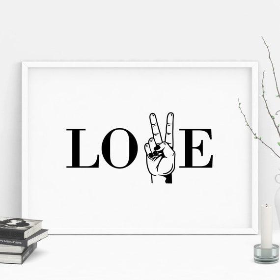 "Poster | Print | Kunstdruck ""Love & Peace"" | DIN A4"