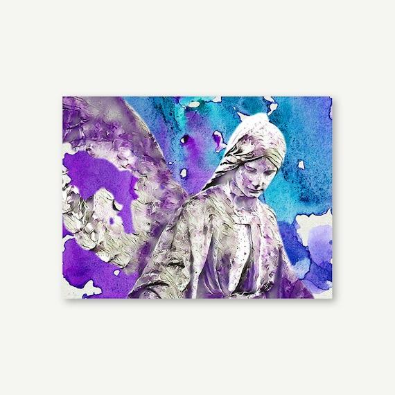"Wandbild ""Angel Artwork"" | Digital Art auf Leinwand, Acrylglas, Alu-Dibond"